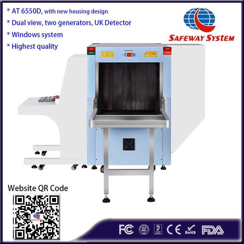 China Embassy Security Check Dual View X Ray Machine , Baggage Scanning System 0.22m/S factory