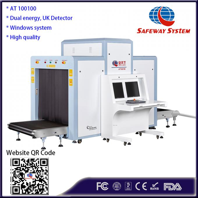 Dual Energy Parcel X Ray Machine With High Definition Images 0.22m/S Conveyor Speed